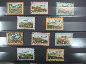 Macau 1960 Views of Macau Air Port Stamps Used Set