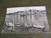 ancienne carte postale CPSM Nyon le port le château