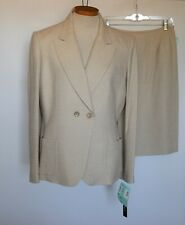NWT $ 458.00 Tahari Beige to White 2 piece Skirt Suit Women's Career Size 10