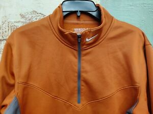 Men's Nike Golf Tour Performance 1/4 Zip Copper Pullover Small
