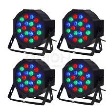 4pcs 18X3W RGB PAR64 DMX512 7 Channel DJ Par LED Light Stage Lighting Party Club