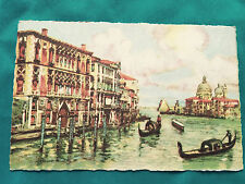 Canal Grande Palazzo Prcanchetti gondola Italy Venice color Postcard Vintage