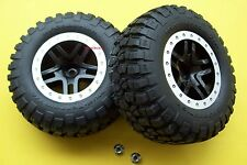 Traxxas Slash 2wd Raptor SVT Front Wheels Tires BF Goodrich T/A Beadlock 12mm