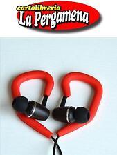 2 Clip per auricolari Mp3 gancio orecchio archetto adattatore gomma ROSSO