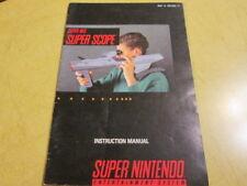 SNES   BOOKLET FOR  THE SUPER NINTENDO  GAME SUPER SCOPE