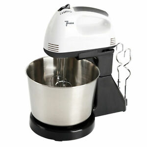 7 Speed Electric Cake Hand Mixer Food Mixing Bowl Beater Dough Multi Blender