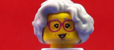 "LEGO-MINIFIGURES SERIES [11]  X 1 HAIR PIECE FOR GRANDMA FROM SERIES 11 ""READ"""