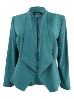 Nine West Women's Plus Size Kiss-Front Blazer