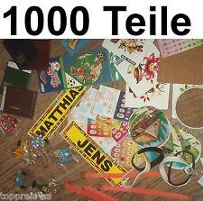 1000x Adreßbuch Sticker Schmuck ARMBAND HOLZBUCHSTABEN WURFMATERIAL SCHAUSTELLER