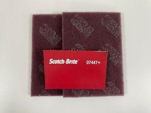 Genuine 3M Scotchbrite Hand Pad Maroon (7447) - Pack 2 (FREE P&P)