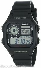 Casio Men's AE1200WH-1A World Time Multifunction Watch New