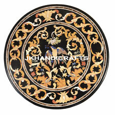"Heritage  Marble 24"" Random Inlay Art Coffee Dining Table Top Gander Decor"