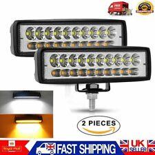 2X100W 12V 24V LED Work Light Offroad Spot Lamp Square Floodlight Truck Boat Bar