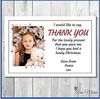 10 x THANK YOU PERSONALISED STAR PHOTO CHRISTMAS FOR MY GIFTS CARD ENVELOPES
