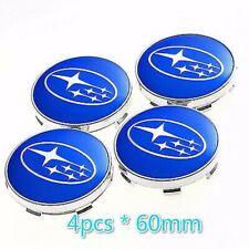 4pcs*60mm For Subaru Forester Impreza Legacy wheel center Hub caps-Blue