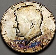 1968-S KENNEDY SILVER PROOF HALF DOLLAR BU UNC COLOR TONED GEM