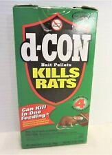 D-CON 4, 3oz Brodifacoum Pellets Bait Filled Trays Rat Mouse Poison New