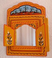 Beautifully Hand Painted Mirror from Morocco * YELLOW *