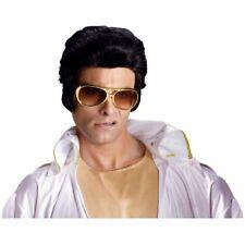 Elvis Presley Wig Pompadour Sideburns King Rock Roll Las Vegas Costume 50s 70s
