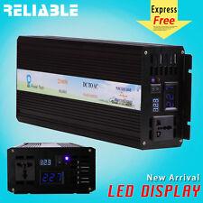 2500W Pure Sine Wave Inverter Power Inverter 12/24/48V to 120/220V LED display