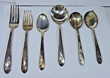 Antique Holmes & Edwards Silver plated 30 Table Pieces Romance Pattern #12Aa
