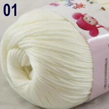 Sale New 1Ball x 50g Cashmere Silk Wool Hand Knit Wrap Shawls Crochet Yarn 01