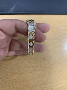 18k Gold Diamond Bangle Kleef Style