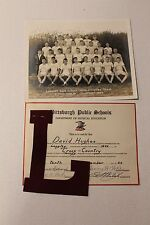 Vintage 1944 Langley High School - Cross Country - Letter/Certificate/Team Photo