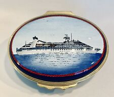 Halcyon Days English Enamel Trinket Box Seabourn