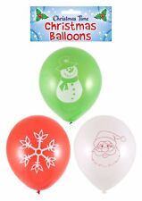 15 Assorted Balloons Christmas Santa Red Green White Balloon Decorations