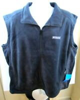 Men's XXL Columbia Granite Mountain Full Zip Black Fleece Vest - NWT