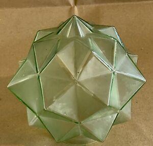 ART DECO PERIOD STAR SHAPED GLASS LIGHT SHADE CEILING PENDANT/LAMP BASE c1930's