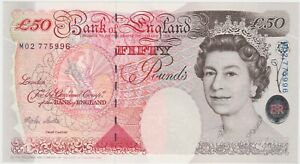 B385 LOWTHER £50 M02 1999 BANKNOTE IN MINT CONDITION.