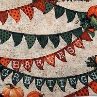 1//2 Yard Riley Blake Witch Hazel Pumpkins Green 100/% Cotton C3933-GREEN