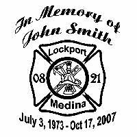 "In Loving Memory Of Fire Fighter Decal Car Window Sticker Custom Memorial 6""x7"""