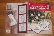 Sunbonnet Sue's Joyful Christmas Book Quilt Embroider