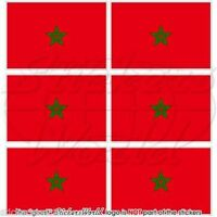 """MOROCCO Moroccan Flag AFRICA Mobile, Cell Phone Mini Decals Stickers, 1,6"""" x6"""