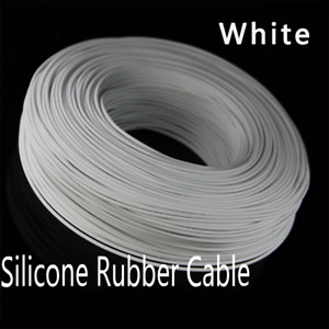 White Flexible Soft Silicone Wire RC Electronic Cable UL Resistant High Temp
