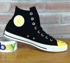 Converse CTAS-Hi Men's 10 High-Top Sneakers Black Yellow White Smiley face Shoes