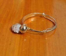 1Pair Adjustable Silver Plated Baby Children Bell Bracelet Bangles Anklet BestHU
