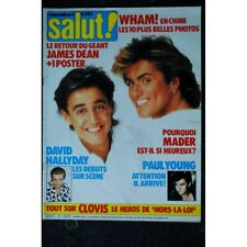 SALUT ! 251 MAI 1986 COVER WHAM! GEORGE MICHAEL 6 PAGES CLOVIS CORNILLAC MADER P