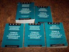 2001 Dodge Caravan Shop Service Repair Manual Set Se Sport 2.4L 3.3L V6
