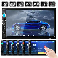 """Double 2 DIN 7"""" inch Car MP5 Player Bluetooth Touch Screen Stereo Radio USB/AUX"""