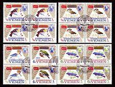 Yémen 1965 used c.t.o mi.148/52 a bl/4 OISEAUX BIRDS specht woodpecker