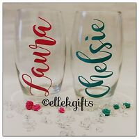 Personalised Name Large Hi Ball Tumbler Glass Gift Birthday Wedding Xmas