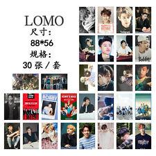 New 30pcs set Kpop IKON collective BOBBY B.I KimJinHwan Lomo Card