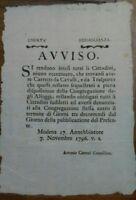 1796 OCCUPAZIONE FRANCESE DI NAPOLEONE A MODENA SUI CARRETTI CON CAVALLI