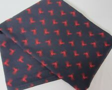 Vintage HILFIGER RED ROOSTER French Country Navy Cotton TWIN FLAT SHEET