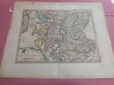 100% ORIGINAL LARGE SOUTH SCOTLAND MAP BY HONDUIS MERCATOR C1630/S HAND COLOURED