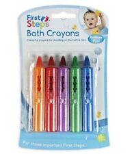 Pack of 5 First Steps Baby Bath Crayons for Fun in Bath - Non Toxic Bath Toys!